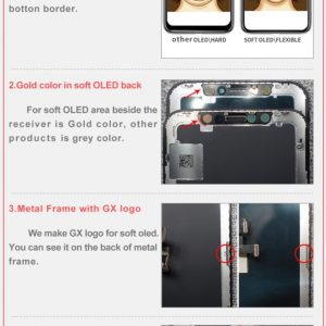 iPhone X OLED GX LCD and Digitizer Touch Screen Replacement Assembly