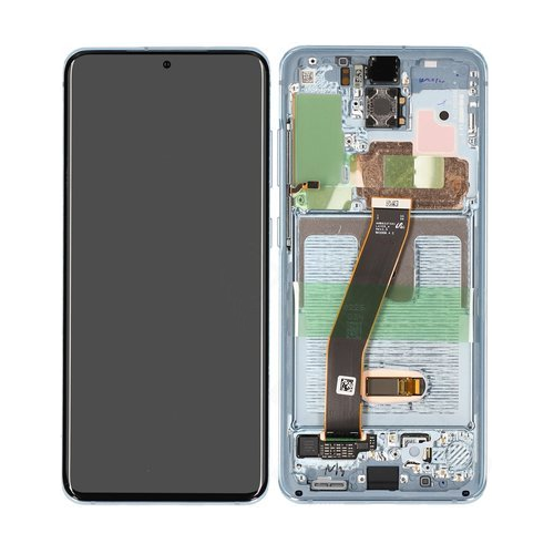 Galaxy S20 G980 / S20 5G G981 Service Pack LCD Display & Touch Replacement Blue
