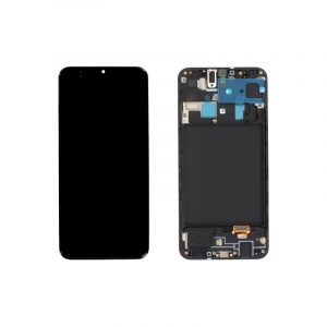 Galaxy A20 A205 Service Pack LCD Display & Touch Replacement Black