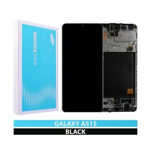 Galaxy A51 A515 Service Pack LCD Display & Touch Replacement Black