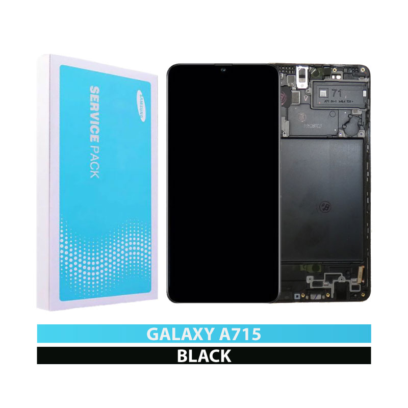 Galaxy A71 A715 Service Pack LCD Display & Touch Replacement Black