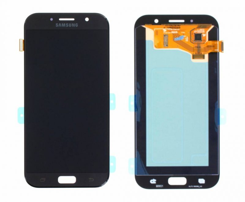 Galaxy A7 2017 LCD Display & Touch Replacement Black