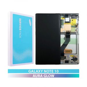 Galaxy Note 10 N970 Service Pack LCD Display & Touch Replacement Aura Glow