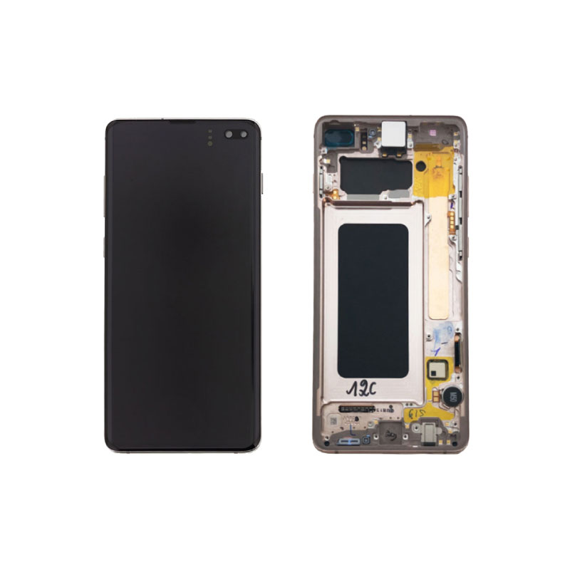 Galaxy S10 Plus G975 Service Pack LCD Display & Touch Replacement Ceramic White
