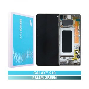 Galaxy S10 G973 Service Pack LCD Display & Touch Replacement Green