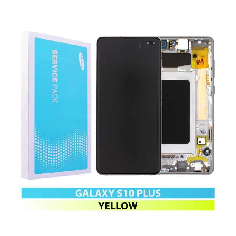 Galaxy S10 Plus G975 Service Pack LCD Display & Touch Replacement Yellow