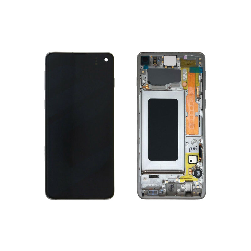 Galaxy S10 (G973) Service Pack LCD Display & Touch Replacement White