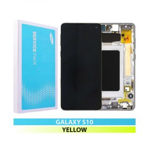Galaxy S10 G973 Service Pack LCD Display & Touch Replacement Yellow
