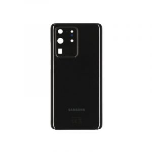 Galaxy S20 Ultra Rear Glass With Adhesive Black