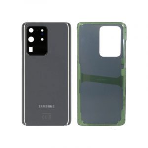 Galaxy S20 Ultra Rear Glass With Adhesive Grey