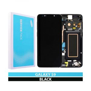 Galaxy S9 G960F Service Pack LCD Display & Touch Replacement Black