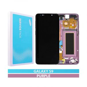 Galaxy S9 G960F Service Pack LCD Display & Touch Replacement Lilac Purple