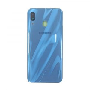 Galaxy A30 (A305) Rear Glass With Camera Lens – Blue